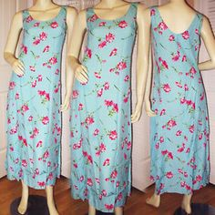 EXPRESS Women BLUE PINK Magenta Hawaiian Hawaii Floral Flowers Print Maxi DRESS $78 BUY NOW at http://stores.ebay.com/Tropical-FEEL
