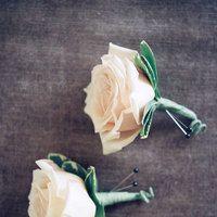 Simple rose buttonhole