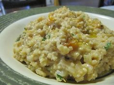 Millet Risotto with Butternut Squash, Goat Cheese & Leeks