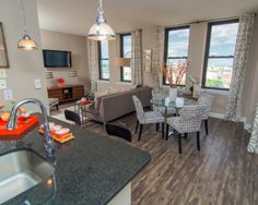 great deal on a converted baltimore warehouse loft style one bedroom