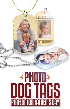 Looking for a #FathersDay gift? Stop looking! You have found the perfect gift! These Photo Engraved Dog Tags can be engraved with Dad's favorite photo to create a stunning peice of Father's Day jewelry!