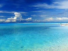 Clear water and white sandy beaches