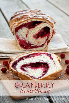 Cranberry Swirl Bread. Oh my heavens! This beautiful bread may be the best thing that ever happened to the humble cranberry. Unlike most cranberry breads, this is a yeast based loaf, which makes it incredibly hard to res...
