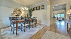 Dine in a separate formal #diningroom with a gorgeous chandelier.
