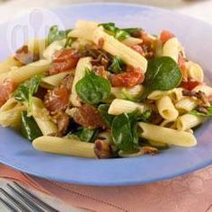 Penne with Spinach, Tomatoes and Pancetta @ allrecipes.co.uk