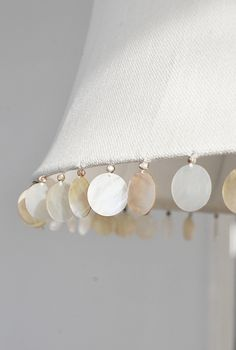 shell trim on lampshade...beautiful