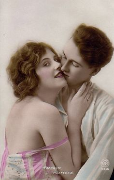 french postcard, 1920s