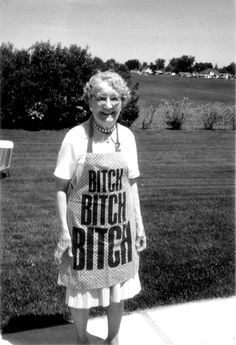 I want this to be me. Please someone buy this apron for me in 40 years.