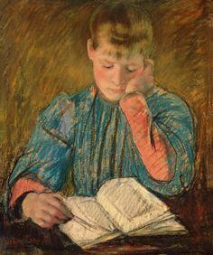"""Mary Cassatt - """"Lesendes Mädchen"""" (Girl reading)"""