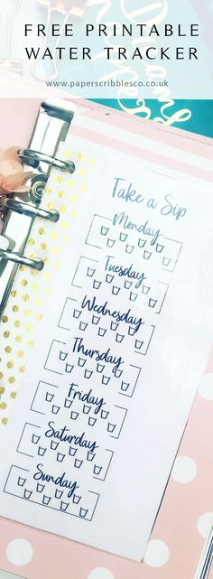 Free Printable Water Tracker {subscription required}