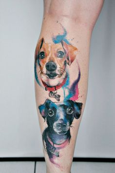 tattoo aquarela lana zara dogs deduch love