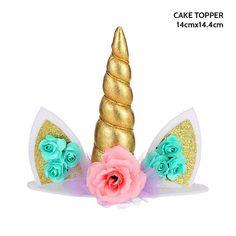 Unicorn Themed Cake, Unicorn Cake Topper, Unicorn Cupcakes, Unicornio Birthday, Baby Shower Unicornio, Cake Accessories, Unicorn Party Supplies, Unicorn Baby Shower, Kids Party Decorations