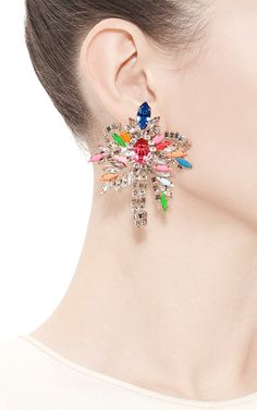 Palm Crystal Earrings by Shourouk - Moda Operandi