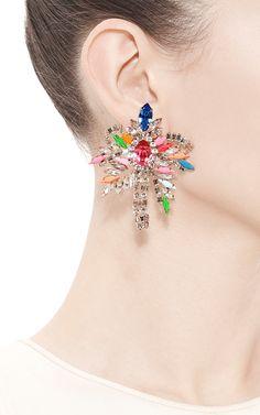 Palm Crystal Earrings by Shourouk - Moda Operandi