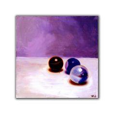 Marbles in Purple, original 8x8 inch painting from vankale #etteam #purple