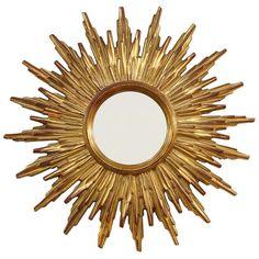 1stdibs   French Gilt Sunburst Mirror