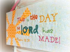 Children's Scripture Wall Art by RegalRhino on Etsy, $36.00