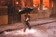 An umbrella always helps when dancing in the Rain.