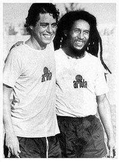 Peladinha alto nivel Chico Buarque and Bob Marley | Março de 1980 no Rio de Janeiro