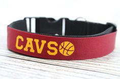 Dog Collar  Cleveland Cavaliers Basketball  by droolySWAG on Etsy