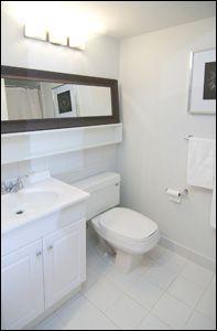 Space Lofts, Toronto - Photos Loft Bathroom, Bathrooms, Concrete Ceiling, Toronto Photos, Steam Room, Floor To Ceiling Windows, Guest Suite, Lofts, Lockers