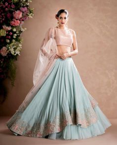 Latest Collection of Lehenga Choli Designs in the gallery. Lehenga Designs from India's Top Online Shopping Sites. Designer Bridal Lehenga, Indian Bridal Lehenga, Red Lehenga, Lehenga Choli, Sharara, Anarkali, Lehenga Wedding, Lehenga Style, Lehenga Designs