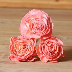 Coral Artificial Flower Sola Beauty Rose