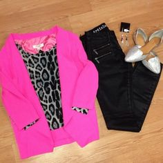 Our Pink Passion Blazer from @Hannah Mestel Larson Boutique can brighten any #ootd! Styled by Lauren