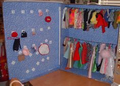 How To Make A Doll Closet Cheaply From A Cardboard Under The Bed Storage Box