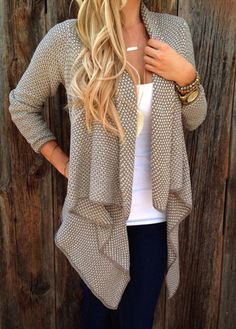 Long Sleeve Asymmetric Hem Cardigan