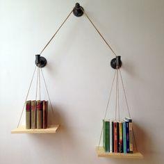 Balance Bookshelf by cushdesignstudio on Etsy,