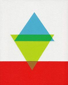 Giclee print  Peaks  12 x 15 modern geometric by magnapaint, $25.00