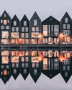 perfect reflection of #haarlem's gabled houses. image by @een_wasbeer #architecturephotography on #designboom