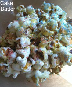 Three Easy Popcorn Recipes--Honey Lemon Rosemary, Cake Batter, and Cinnamon Caramel