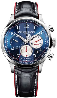 Baume et Mercier Watch Capeland Shelby Cobra Limited Edition - mens dress watches, mens fashion watches, rose gold and black mens watch *ad Men's Watches, Dream Watches, Fine Watches, Sport Watches, Cool Watches, Fashion Watches, Watches Online, Unique Watches, Vintage Watches