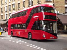 A London bus. (Not a Routemaster in this case but a brand new LT class 'Borismaster')