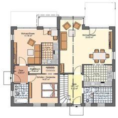 Kowalski Haus Einfamilienhaus mit Einliegerwohnung Celine 200 Grundriss EG