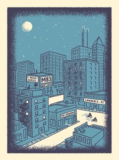 M83 I Break Horses concert poster by neversleeping on Etsy