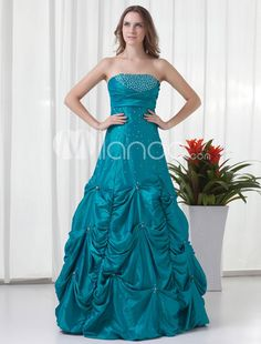 Hunter Green Taffeta Sequin Strapless Womens Prom Dress. See More Strapless at http://www.ourgreatshop.com/Strapless-C937.aspx