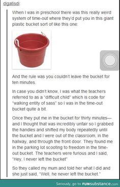 Giant plastic bucket