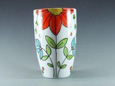 Hand painted latte mug