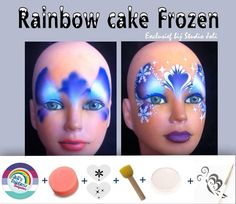 Frozen Face Painting Mask and The Tools That You Will Need.
