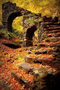 Clinton Road, Cross Castle remains in the NJ Autumn.
