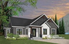 Plan 3 Bed Modern Craftsman Ranch Home Plan Craftsman Ranch, Craftsman Cottage, Modern Craftsman, Craftsman Style House Plans, Ranch House Plans, Best House Plans, Craftsman Exterior, One Level House Plans, Craftsman Homes