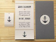 Invitaciones de boda marineras. #invitacionesdeboda #invitaciones #bodas #marinera