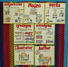 These small anchor charts are great. Might need to do this on the cabinets next year.
