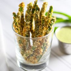 Crispy Green Bean Fries - Baked NOT Fried with a Trio of Dipping Sauces