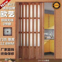 PVC folding door interior door sliding door curtain kitchen bathroom door the living room genuine special offer