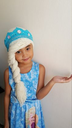 Elsa braidelsa frozen hatdisney crochet by iLovechaRmingYarNs