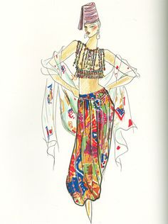 Yves Saint Laurent, sketch, 1991